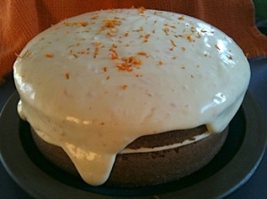 Recipe for minneola cake with citrus cream